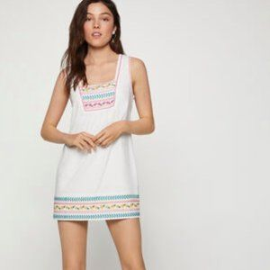 BCBGeneration Embroidered Cotton Shift Dress